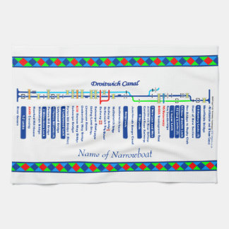 Droitwich Canal UK Inland Waterways Route Blue Kitchen Towel