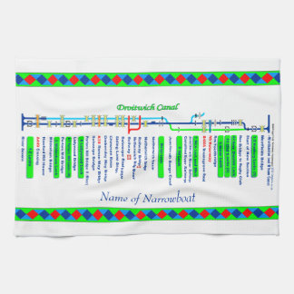 Droitwich Canal UK Inland Waterways Route Green Towel