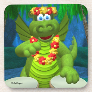 Drolly Dragons Party Drummer Coaster