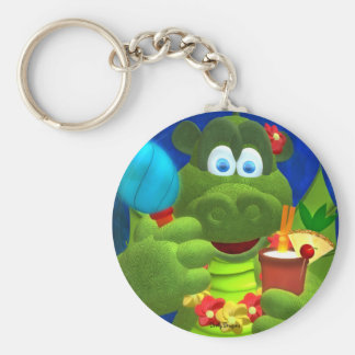 Drolly Dragons Party Fun Basic Round Button Keychain