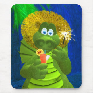 Drolly Dragons: Party-Time Mouse Pad
