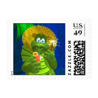 Drolly Dragons: Party-Time Postage
