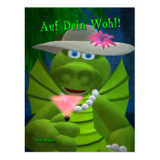 Drolly Dragons Prost Tarjeta Postal