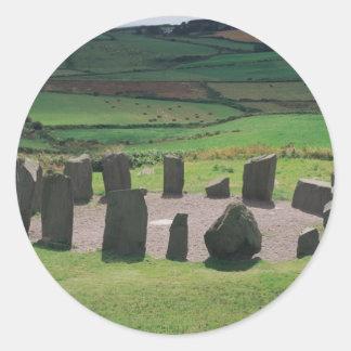 Drombeg Stone Circle Round Stickers