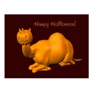 Dromedario de Halloween Postal