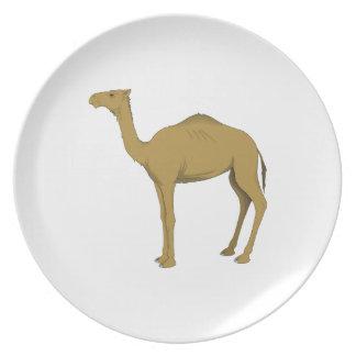 Dromedary Camel Party Plate