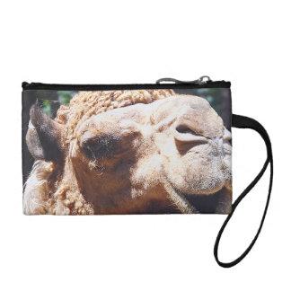Dromedary One Hump Camel Face Closeup Change Purse