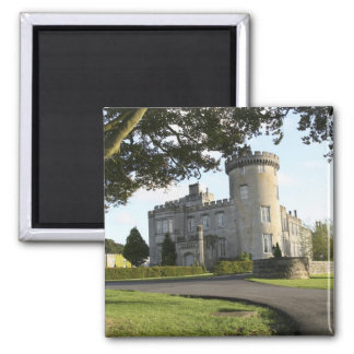 Dromoland Castle side entrance with no people 2 Inch Square Magnet