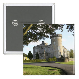 Dromoland Castle side entrance with no people 2 Inch Square Button