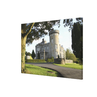 Dromoland Castle side entrance with no people Stretched Canvas Prints