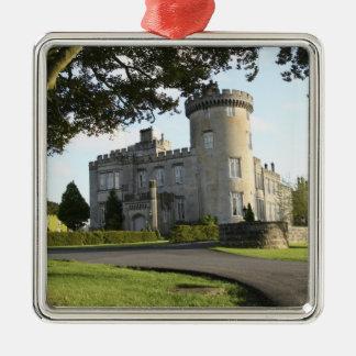 Dromoland Castle side entrance with no people Metal Ornament