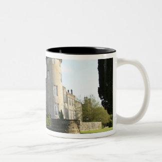 Dromoland Castle side entrance with no people Two-Tone Coffee Mug