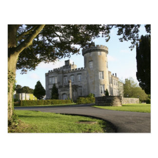 Dromoland Castle side entrance with no people Postcard