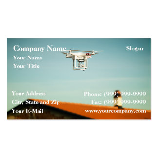 Dron above roofs business card