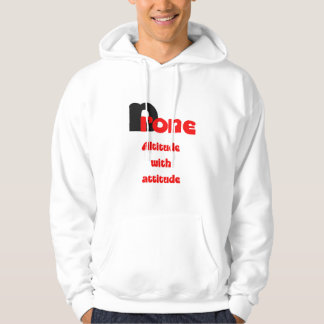 Drone altitude with attitude hoodie