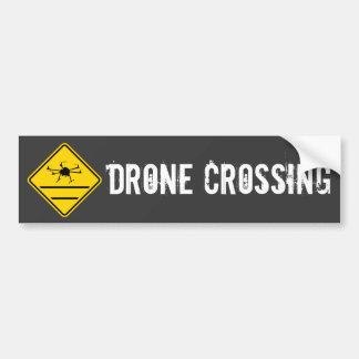 drone crossing hexacopter bumper sticker
