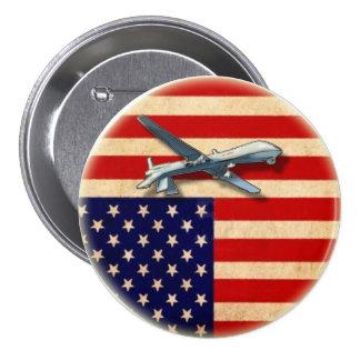 Drone Distress Flag Pinback Button