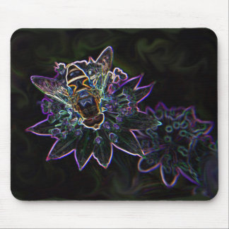 Drone Flower Glow Mouse Pad