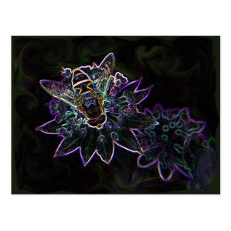 Drone Flower Glow Postcard
