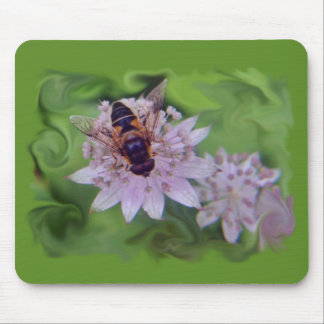 Drone Flower Pattern Mouse Pad
