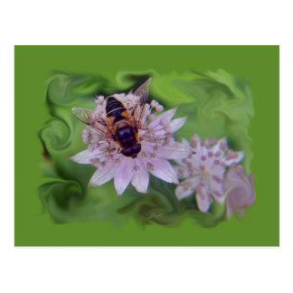 Drone Flower Pattern Postcard