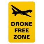Drone Free Zone Rectangular Photo Magnet