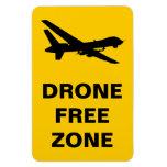 Drone Free Zone Vinyl Magnets