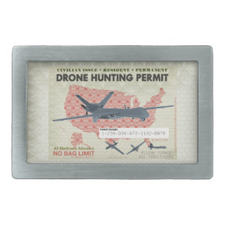 Drone Hunting Permit Belt Buckle