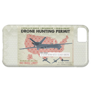 Drone Hunting Permit Cases Cover For iPhone 5C