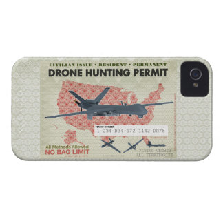 Drone Hunting Permit Cases Case-Mate iPhone 4 Case