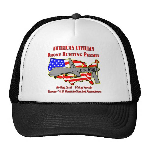 Drone Hunting Permit Mesh Hat