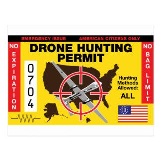 Drone Hunting Permit Postcard