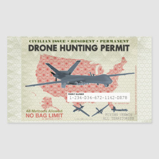 Drone Hunting Permit Stickers