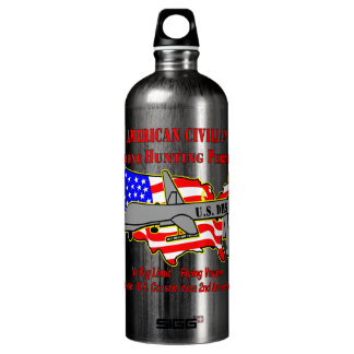 Drone Hunting Permit Water Bottle
