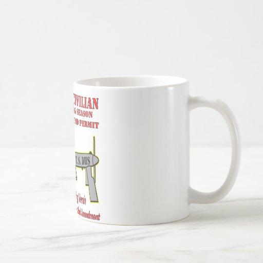 Drone Hunting Season Classic White Coffee Mug
