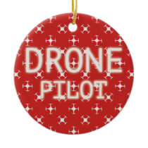 Drone pilot ceramic ornament