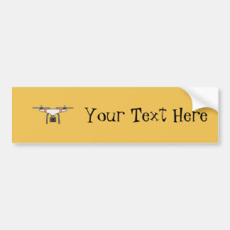 Drone Quadcopter Flying Front Bumper Sticker