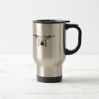 Drone Quadcopter Flying Front Travel Mug