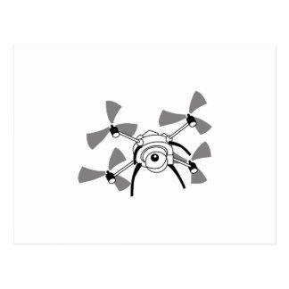 Drone Quadocopter Postcard