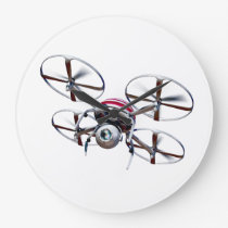 Drone quadrocopter large clock