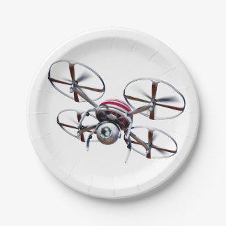 drone quadrocopter paper plate
