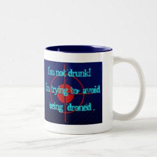 drone strike Two-Tone coffee mug
