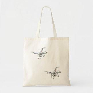Drone white tote bag