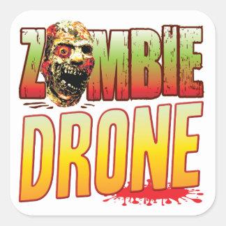Drone Zombie Head Square Stickers