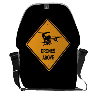 drones above messenger bag
