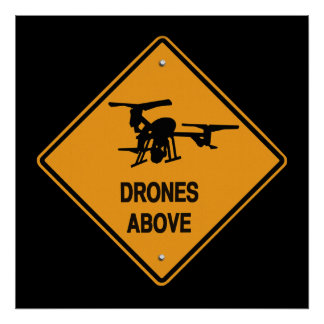drones above poster