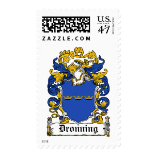 Dronning Family Crest Postage Stamp