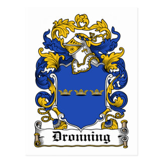Dronning Family Crest Postcard