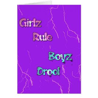 Drool de Boyz Tarjeta De Felicitación