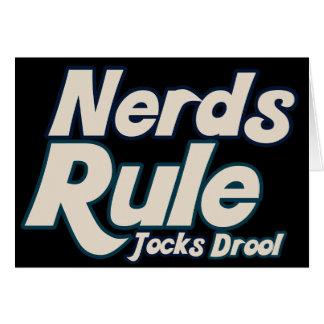 Drool de los atletas de la regla de los empollones tarjeta